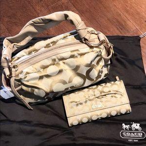 Coach Parker Signature Satchel Handbag & Wallet